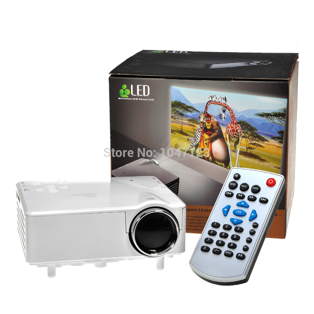 Cheap!! H80 Home Cinema Theater Multimedia LED Projector HD 1080P AV TV VGA USB HDMI Free Shipping(China (Mainland))