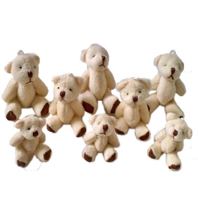 20pcs/lot Kawaii Small Joint Teddy Bears Stuffed Plush 4.5CM Toy Teddy-Bear Mini Bear Ted Bears Plush Toys Wedding Gifts 098(China (Mainland))