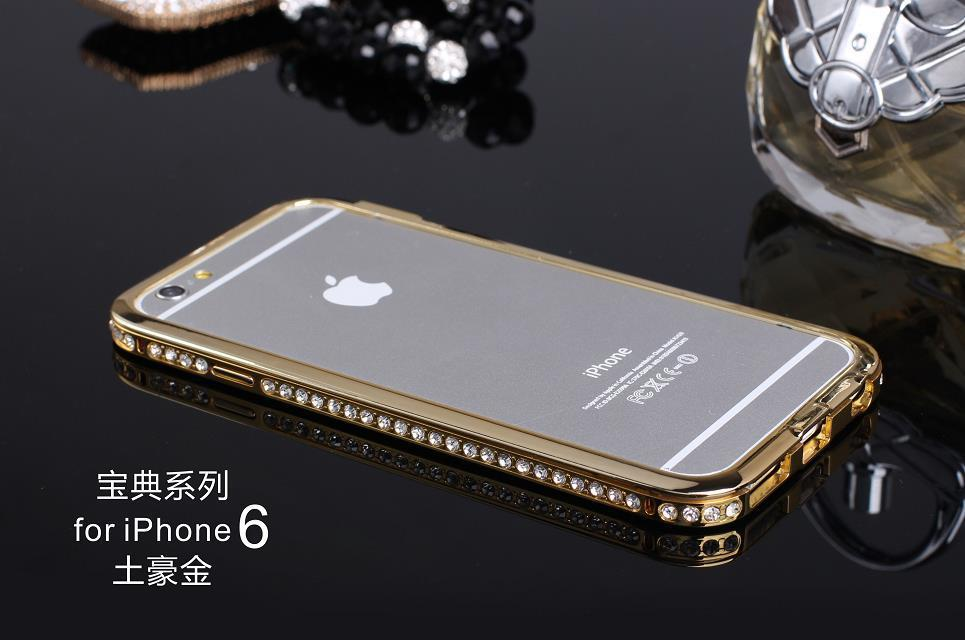iPhone 6 6s Plus 5 5s SE Bumper Luxury Diamond Stone Metal Cover Apple Girlfriend Birthday Gift Present Hot - D-Maos Technology store