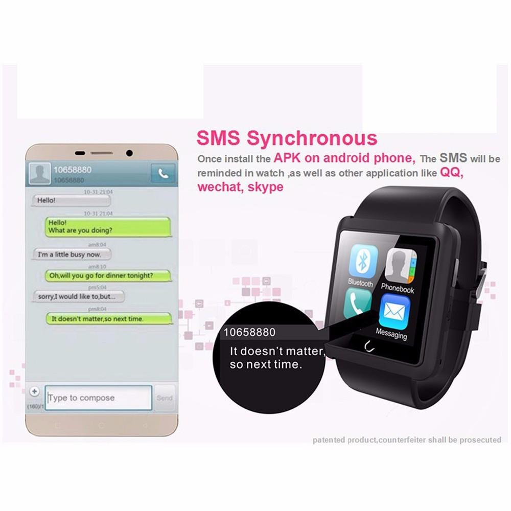 ถูก สมาร์ทนาฬิกาBluetoothPedometerดิจิตอล-นาฬิกาU10LSyncโทรศัพท์SMS s mart w atchสำหรับiosและAndroidมาร์ทโฟนr eloj inteligente