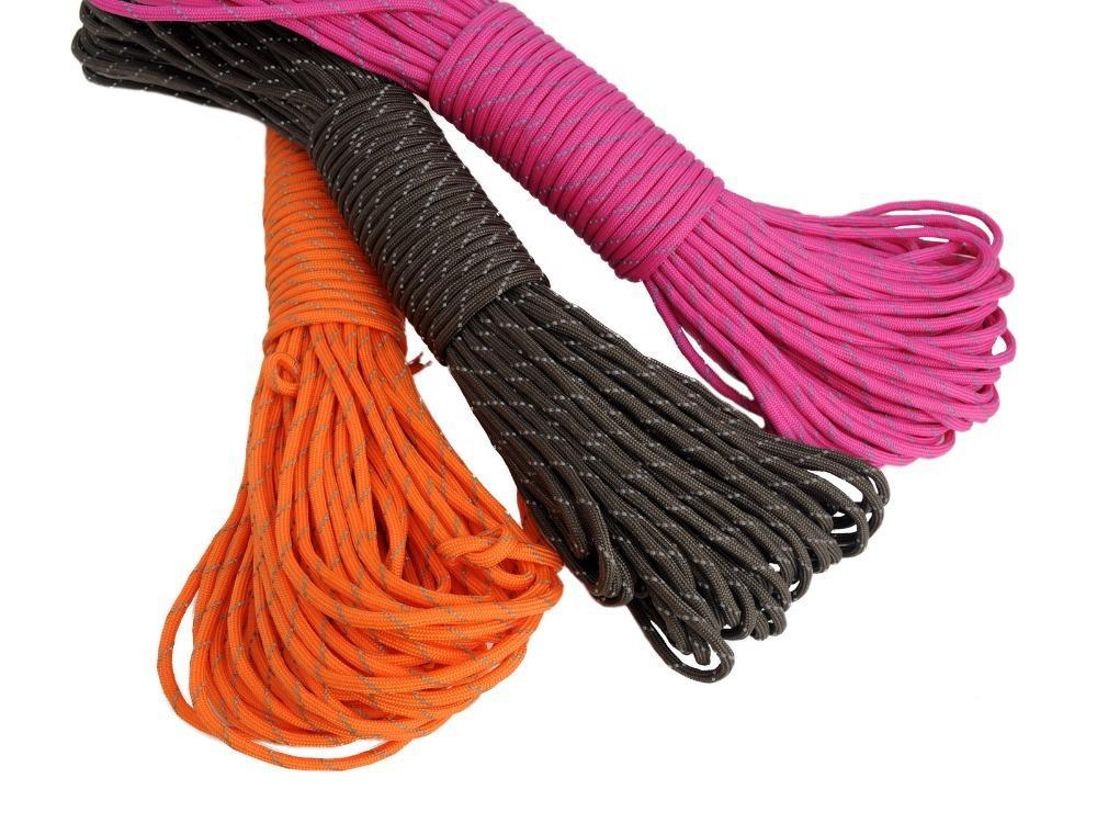 31m 280KG Max Versatile 7-core Nylon Security Rope Braided Cord Military Survival Parachute Rope(China (Mainland))