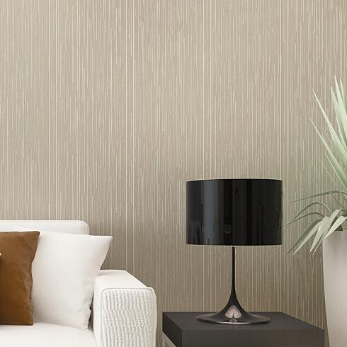 Modern plain vertical stripe wallpaper plain textured for Living room wallpaper texture