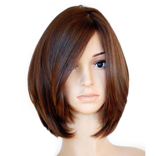 Wholesale& heat resistant LY >>> Brazilian Virgin Straight Bob Style Silk Top 150% Density Full Lace Wig 5.24
