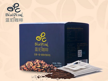 Free shopping Imported organic blue amber follicular hangers type ground pure black coffee powder bag