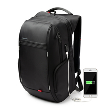 Kingsons Brand Antitheft Notebook Backpack 15.6 inch Waterproof Laptop Backpack for Men Women External USB Charge Computer Bag(China (Mainland))