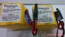 5 шт. / lot BR-2 / 3AGCT4A литиевая 6 v. 2400 мАч плк аккумулятор с черный вилка для Panasonic FANUC A98L-0031-0025