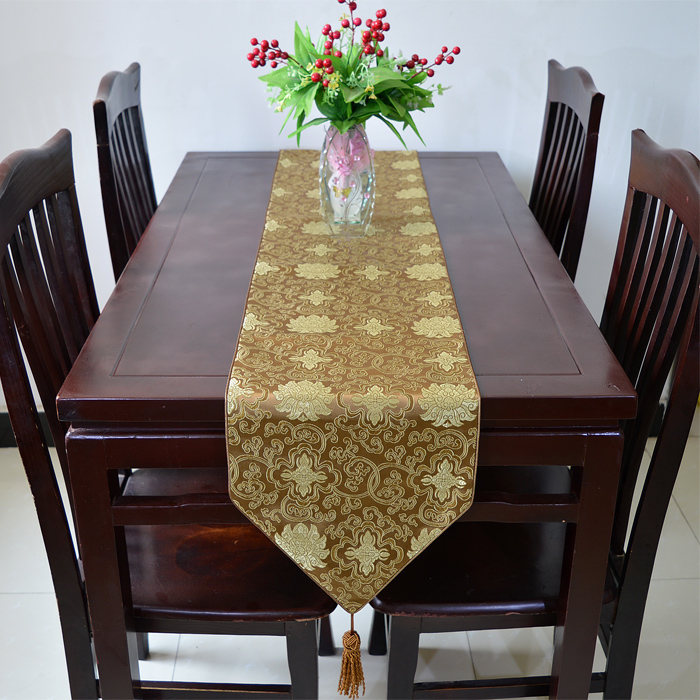 120 inch lengthen elegant luxury feast table runners for 120 inch table
