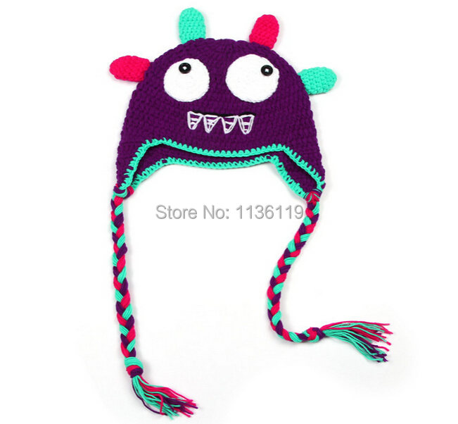 Cartoon Characters Knitting Patterns : New fashion newborn handcraft cartoon hat knitted