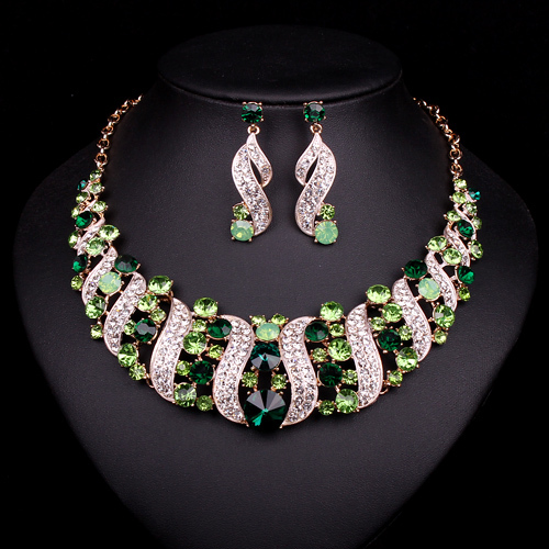 Buy fashion bridal jewelry sets 5 color for Costume jewelry for evening gowns