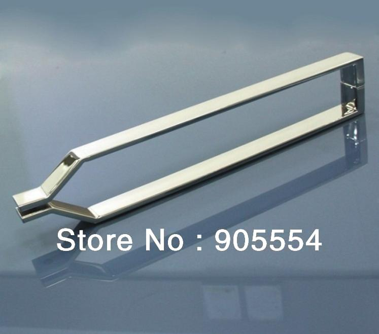 400mm chrome color Free shipping 2pcs/lot  304 stainless steel Bathroom Shower Room Glass Door Handle<br><br>Aliexpress