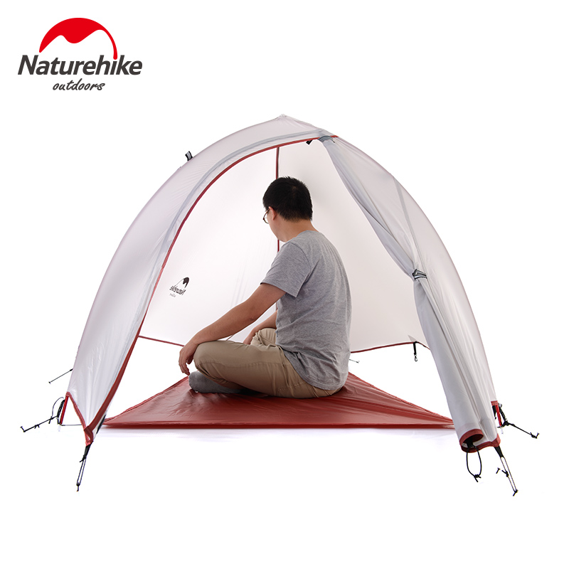 Naturehike 1 Person Tent Double-layer Tent Waterproof Dome Tent Camping 4 seasons Tent Outdoor Sports Waterproof 8000+ UV Grey(China (Mainland))