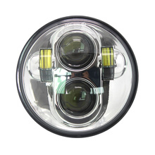 Buy Sliver 5.75 Inch LED Projector Daymaker Hi/Lo Beam Headlight Harley Davidson Motorcycle for $37.99 in AliExpress store