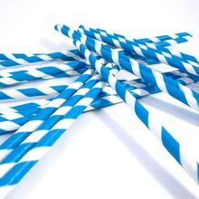 Wholesale price Paper Party Striped Straws