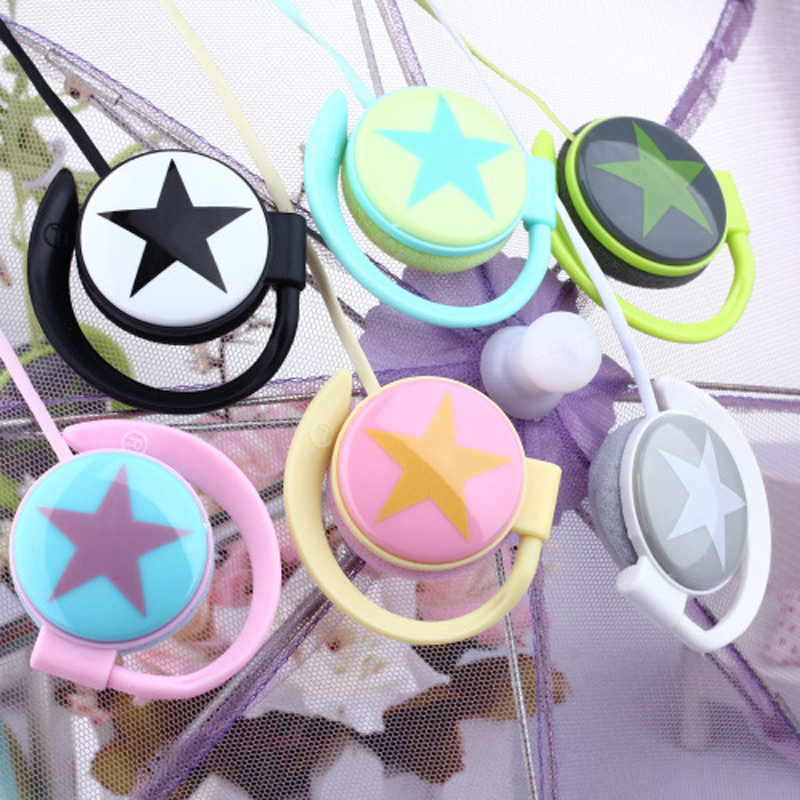 Fashion star design Ear-Hook earphone mini headset headphone for iphone Samsung mobile phone mp3 player(China (Mainland))