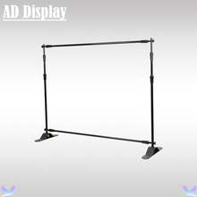Trade Show 5ft-10ft Width 8ft Height Adjustable Step And Repeat Advertising Banner Stand,Exhibition Telescopic Backdrop Display(China (Mainland))