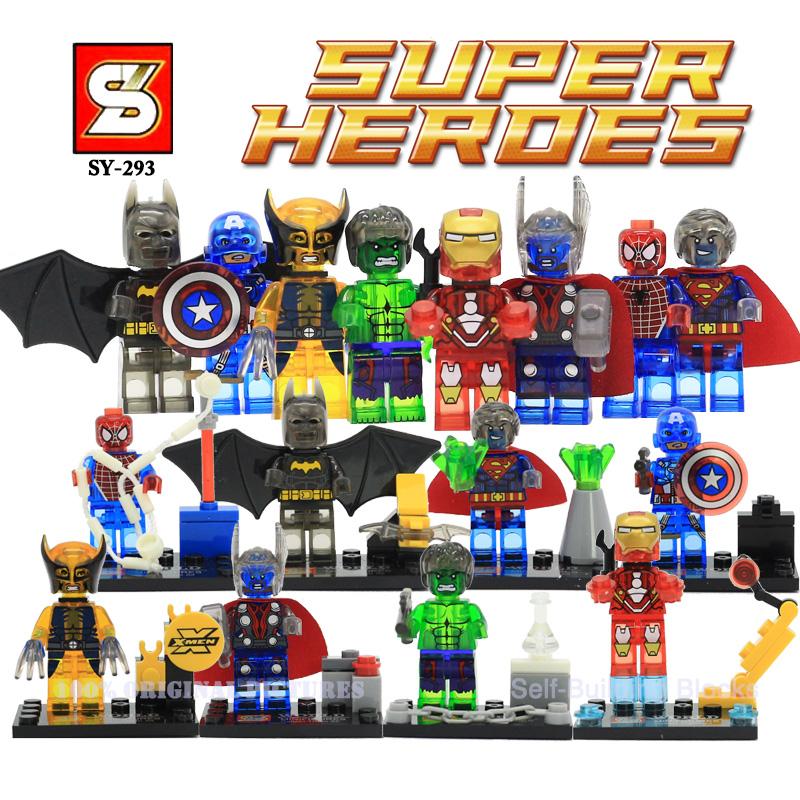sy293 marvel avengers 2 minifigure super heroes captain america iron man spiderman hulk batman superman building batman superman iron man