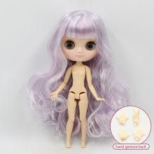 1/8 кукла middie blyth, 20 см, подгонянная, Обнаженная кукла, шарнир тела, разное лицо, красочные волосы и жесты руки, как подарок(China)