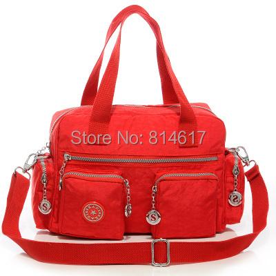 2014 new kippling woman's casual water wash nylon small handbag with shoulder cross body messenger bag online free shipping(China (Mainland))
