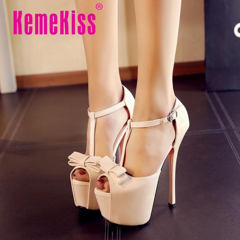 women bowknot high heels sandals peep open toe red bottom sexy fashion ladies heeled footwear heels shoes size 34-38 P19262