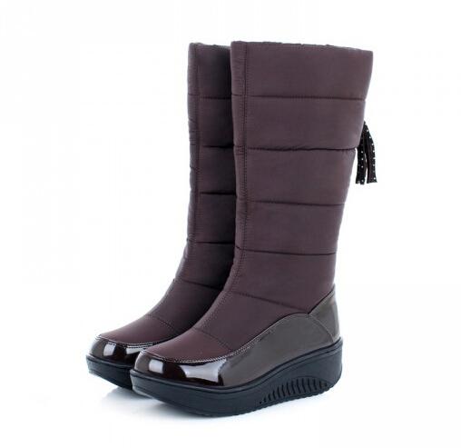 Original Womens Knee High Waterproof Snow Boots With Image  PeachCobbler