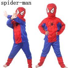 New 2016 Spider Man Children Clothing Sets Fashion Spiderman Cosplay Costume Kids Pajama Sets,Long Sleeve Toddler Baby Sleepwear