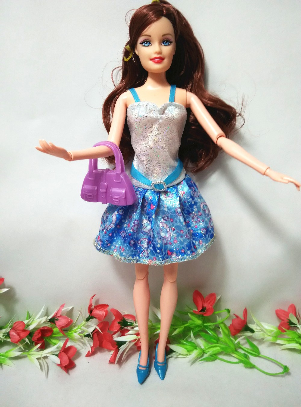 Free transport,Finest Woman Reward Christmas Reward doll unique  + equipment(garments+sneakers+luggage) For Barbie Doll