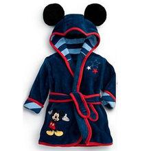 Хлопковый детский халат с героями мультфильмов, детский банный халат, Roupao Infant, 6 видов цветов, детская одежда, банный халат для маленьких дев...(China)
