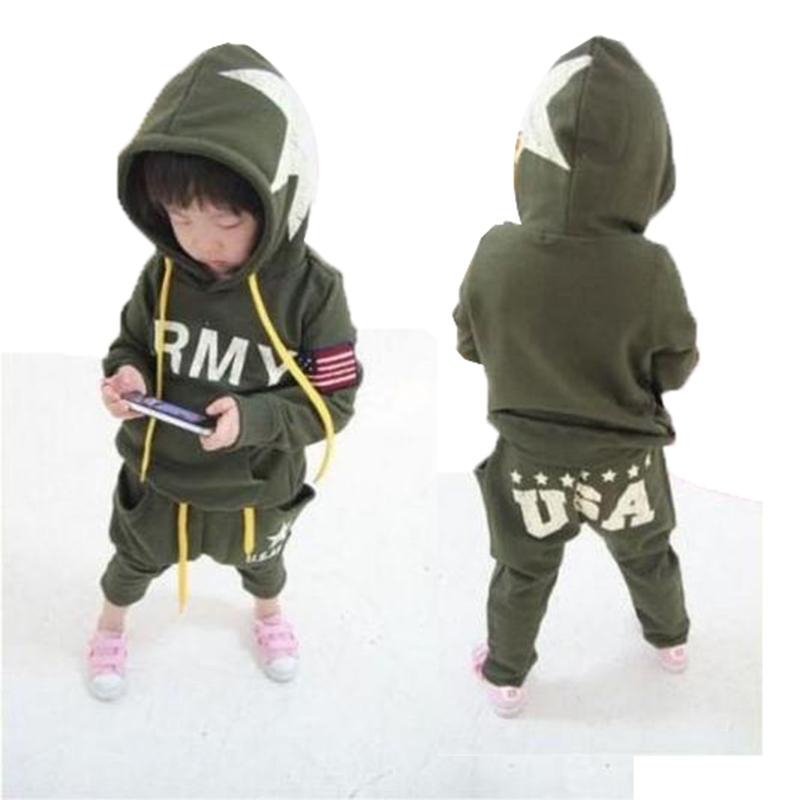 Spring Autumn Fashion Boys Clothing Cotton Long-sleeved Tracksuit Baby Boy Hoodies Set New Child Clothing Sweatshirts(China (Mainland))