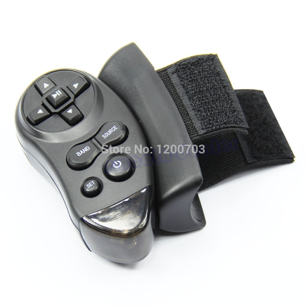 D19 2015 hot-selling Car Universal Steering Wheel Remote Control Learning For Car CD DVD VCD free shipping(China (Mainland))