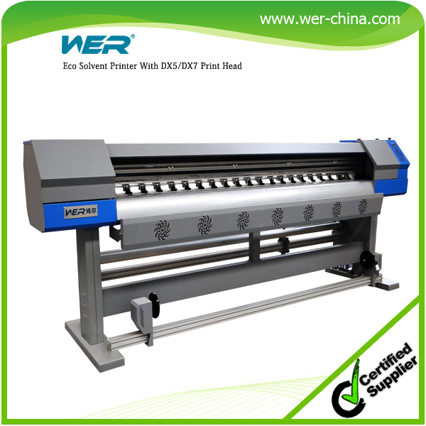 1 8m Eco Solvent Vinyl Sticker Printer For Sale On