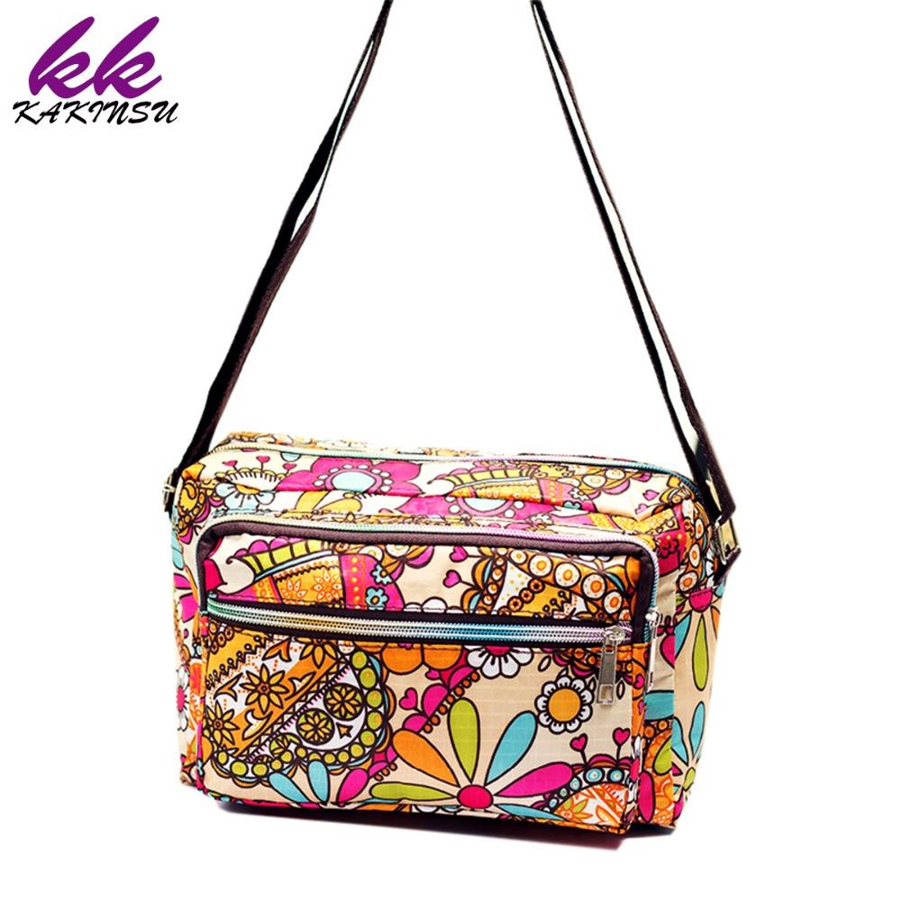Women Messenger Bags Print Floral Cross Body Shoulder Canvas Hobo Bag Nylon Oxford Fabric Women's Handbag Bolsas Femininas X-770(China (Mainland))