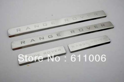 Door sill Step Protector Guard Panel Scuff Plate Fit RangeRover Emblem Letter Panel Strip(China (Mainland))