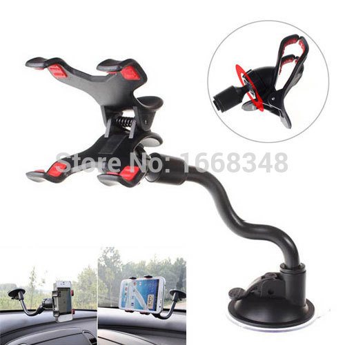 Universal 360 Degree Rotating Long Arm Windshield mobile phone Car Mount Bracket Holder Stand for iPhone Cellphone GPS MP4 PDA(China (Mainland))