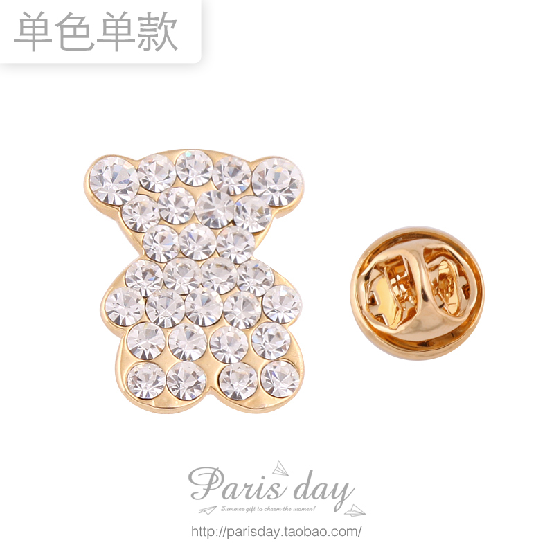 3252 accessories female fairy baby bear cartoon brooch pin brooch lavalier cravat(China (Mainland))