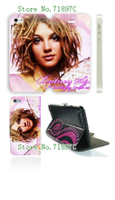 2014 famous star Hot arrival PU Brit Spears wallet leather card foldable case for iphone6 4.7 inch +free shipping
