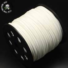 2.7x2mm Faux Suede Cord Um Lado Cobrindo com Imitação De Couro para Beading Fazer Jóias Pulseira Corda Lisa sobre 90 m/roll(China)