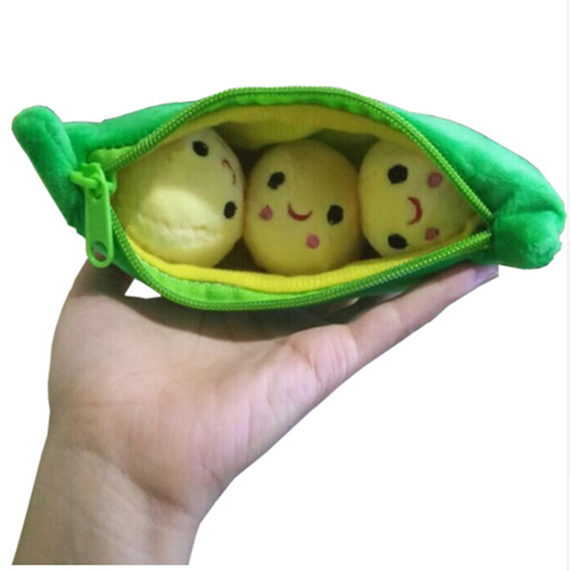 2016 Kids Baby Plush Toys For Children Cute Pea Stuffed Plant Doll Lover Party birthday Gift bag Pendant Keychain Sucker(China (Mainland))