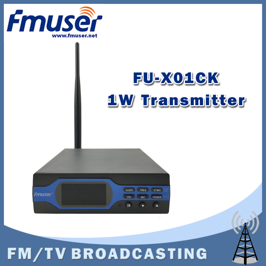 Free Shipping FMUSER FU-X01CK 1W FM broadcast Transmitter Integrated Version Complete Antenna Set (8G TF Card+Battery+Bluetooth)(China (Mainland))