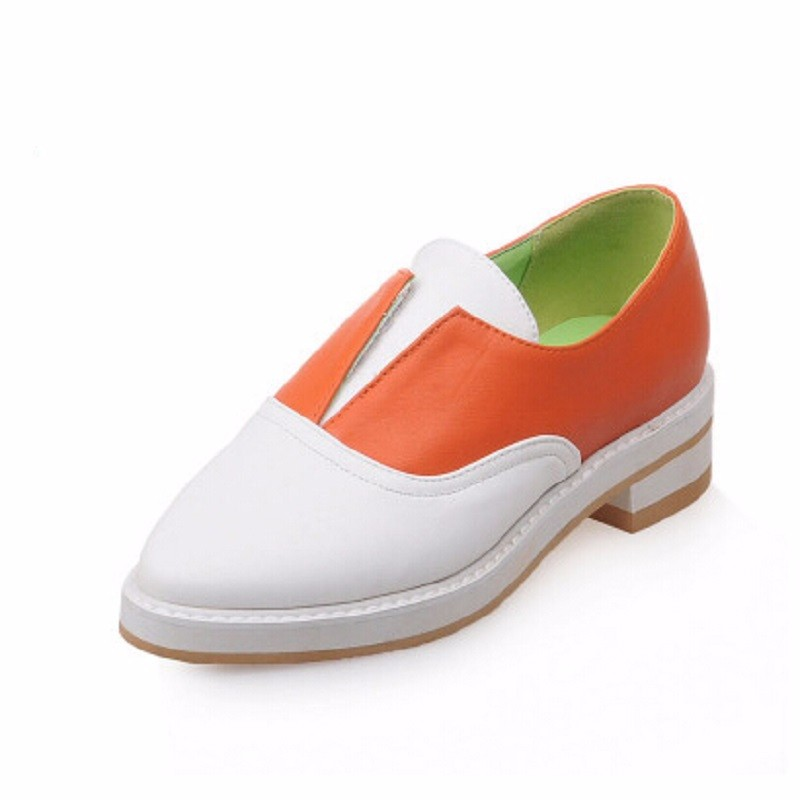 2016 Autumn British Style Low-Top Casual Women Flats Mixed Colors Loafers Fashion All-Match Women's Shoes 40 - 43 Shoes Woman