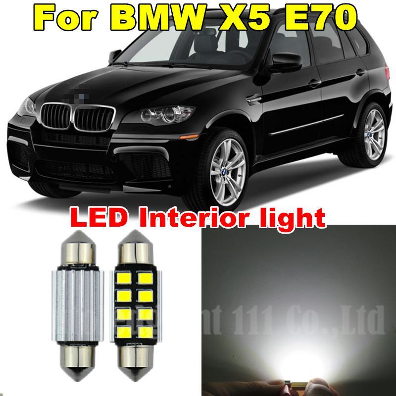 20pcs Pure White Canbus Error Free Car Led Dome Vanity Puddle Footwell Light for BMW X5 - E70 LED Interior light Kit 2007 - 2013(China (Mainland))