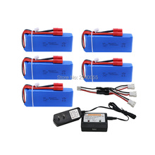 Buy Ultra-high Capacity 5pcs 7.4V 2500mAh 2S 25C Battery+charger Syma X8C X8W X8G RC Quadcopter Free for $68.67 in AliExpress store