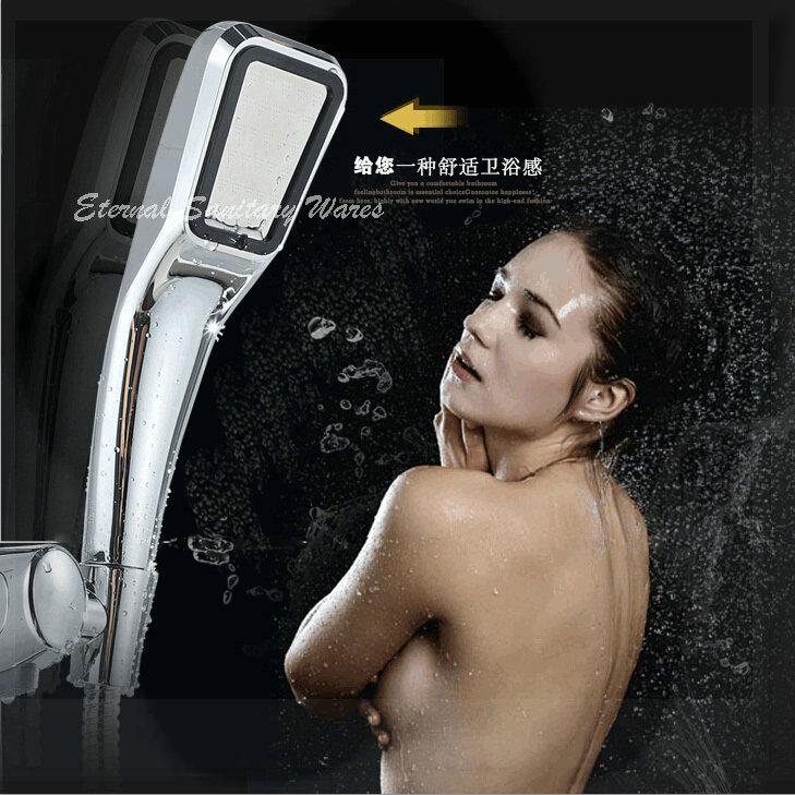 SPA Pressurize Head Shower Water Saving shower head Bathroom Shower Head Filter ABS Chrome Plated Hand Shower wash tub(China (Mainland))