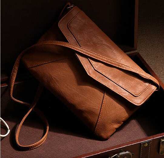 New 2015 Fashion Women's Envelope Bag Leather Messenger bags Handbag Shoulder Crossbody Cross body Bags Purses satchels Bolsas(China (Mainland))