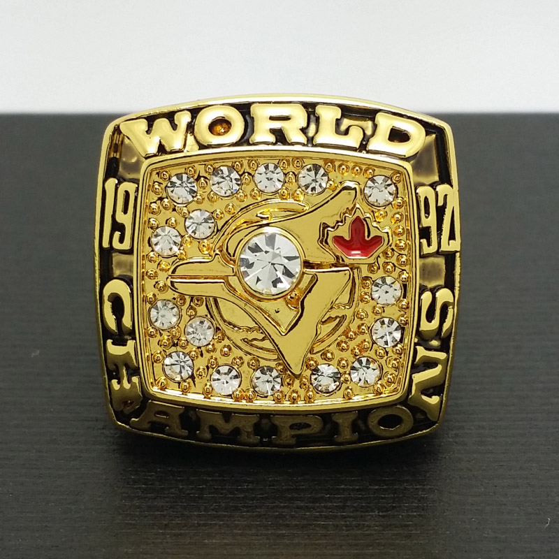 Solid 1992 Toronto Blue Jays MLB World Series Championship Alloy Ring 11 Size 'Bell' Fans Gift Collection - ring store