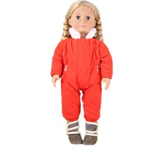 Buy New Come Baby Born Doll Winter Warm Red Jumpsuits Coat Boots Doll Clothes American Girl Doll Clothes 18 Inch Doll AGC908 for $11.80 in AliExpress store