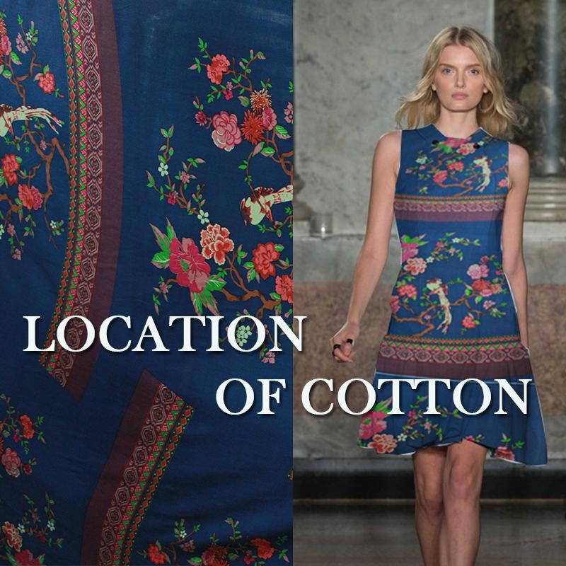 Navy blue national wind orientation pattern plain cotton textile import fabric cloth fabric/cloth(China (Mainland))
