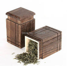 1pc High Quality Wood * Chinese Tea Caddy Container