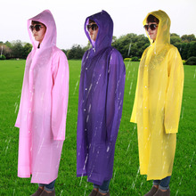 1Pc Adult Hooded Raincoat Poncho Outdoor Waterproof Rain Jacket Coat Long Design(China (Mainland))