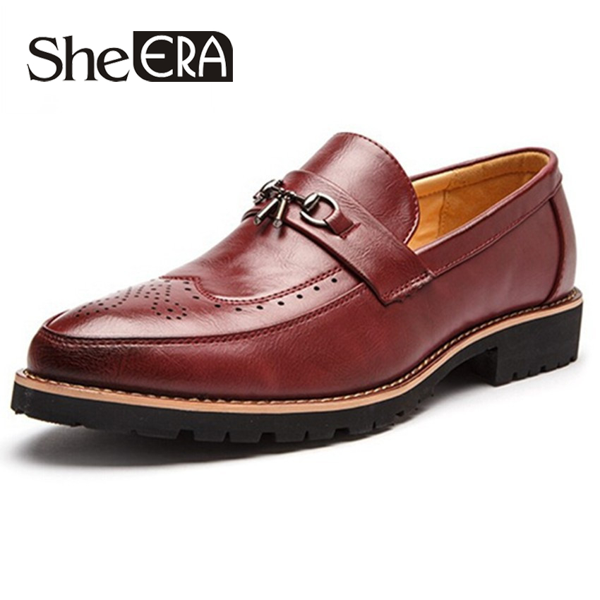 Buy 2016 Fashion Style Leather Men Flats Shoes Casual Crocodile Leather Loafers