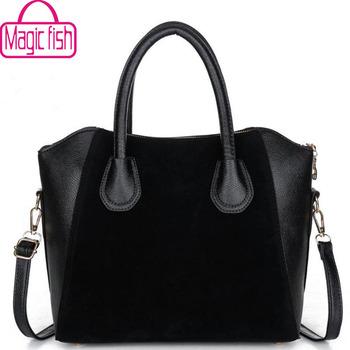 Magic Fish! 2016 tote women messenger bags famous brands women leather handbag shoulder bag ladies women's pouch bolsas LS6514mf